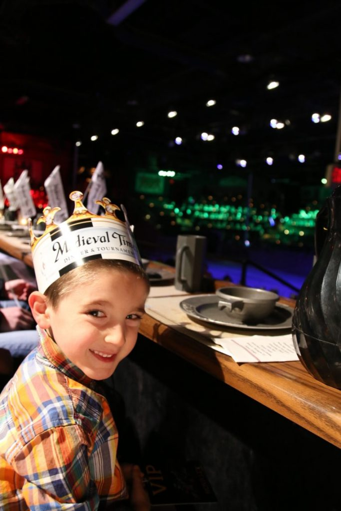 Medieval Times Dinner And Tournament crown on child
