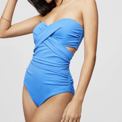 LOFT Beach Strapless Twist One Piece Swimsuit: Today's Obsession