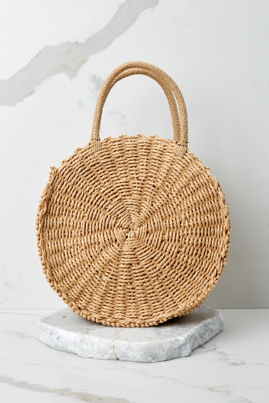Resort Classic Tan Round Bag