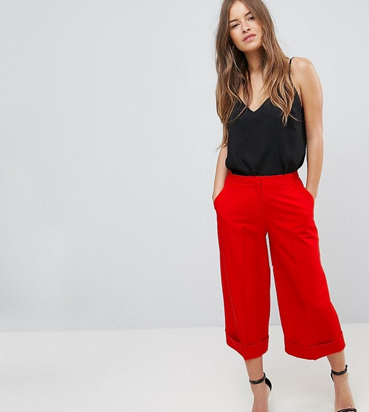 ASOS PETITE Mix & Match Tailored Clean Culotte: Today's Obsession