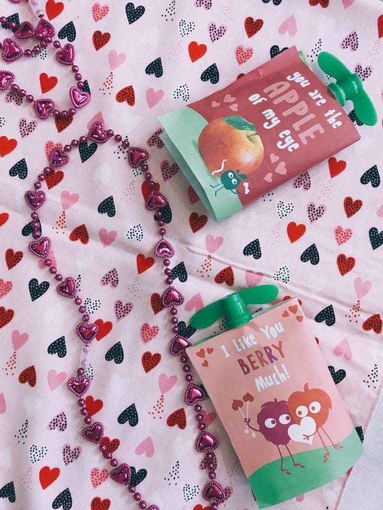 Valentine's Day craft using GoGo squeeZ