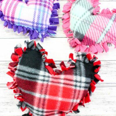 No Sew Valentine's Day Heart Pillows
