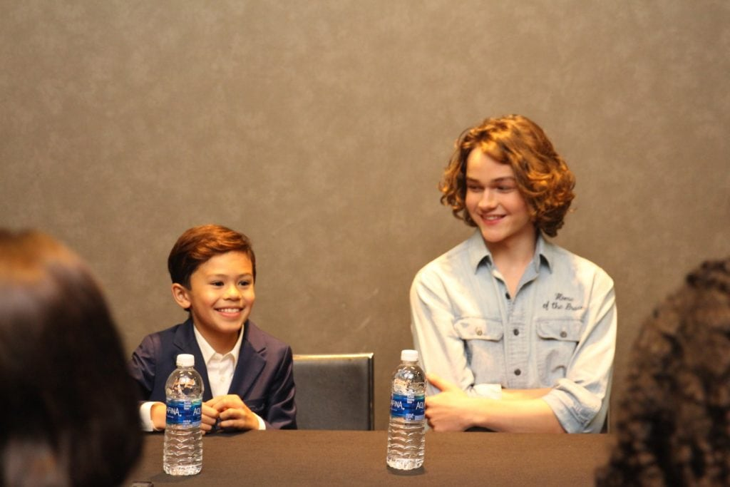 Levi Miller And Deric McCabe Interview For Wrinkle In Time