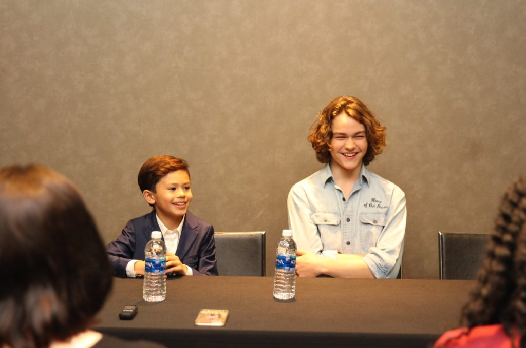 Levi Miller and Deric McCabe interview junket