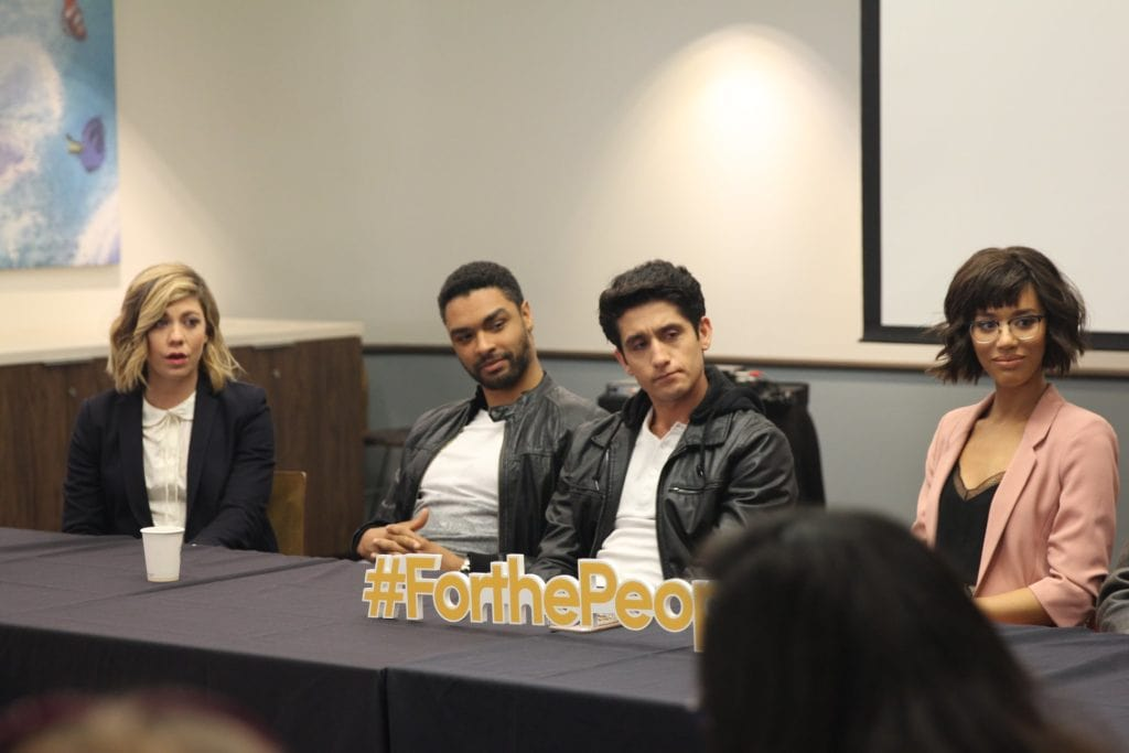 for the people cast interview