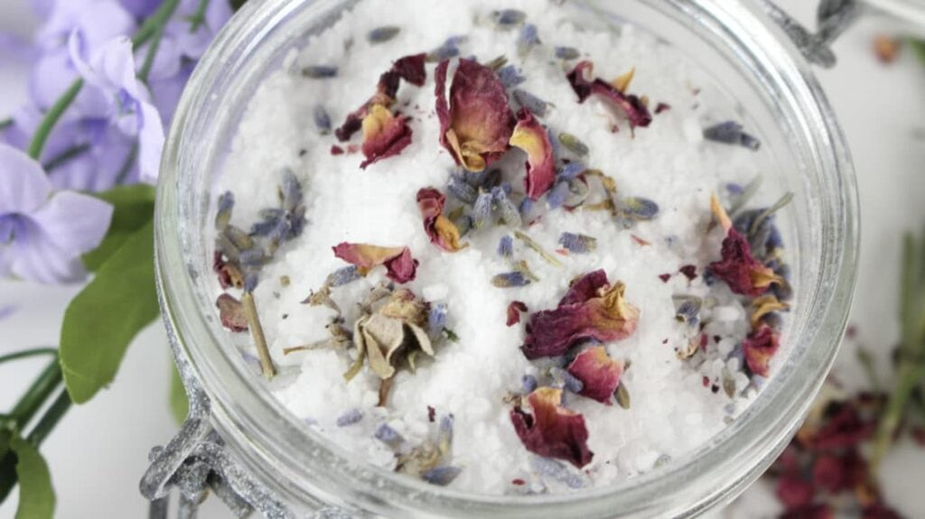 DIY Bath Salts Recipe With Lavender And Rosemary