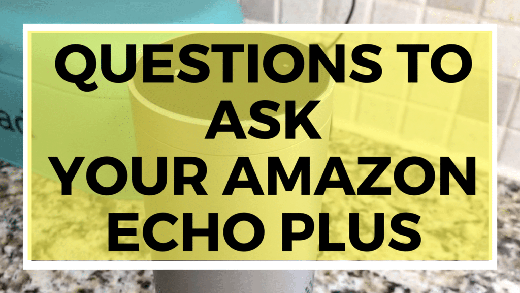 Questions to ask your Amazon Echo Plus
