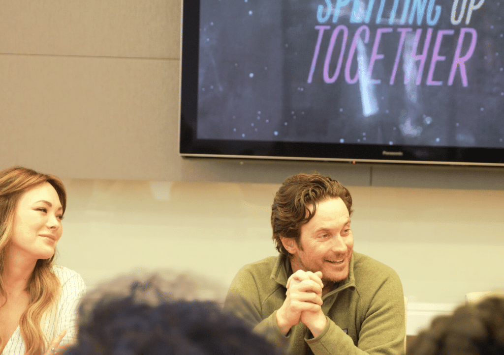 Oliver Hudson Splitting Up Together cast Interview