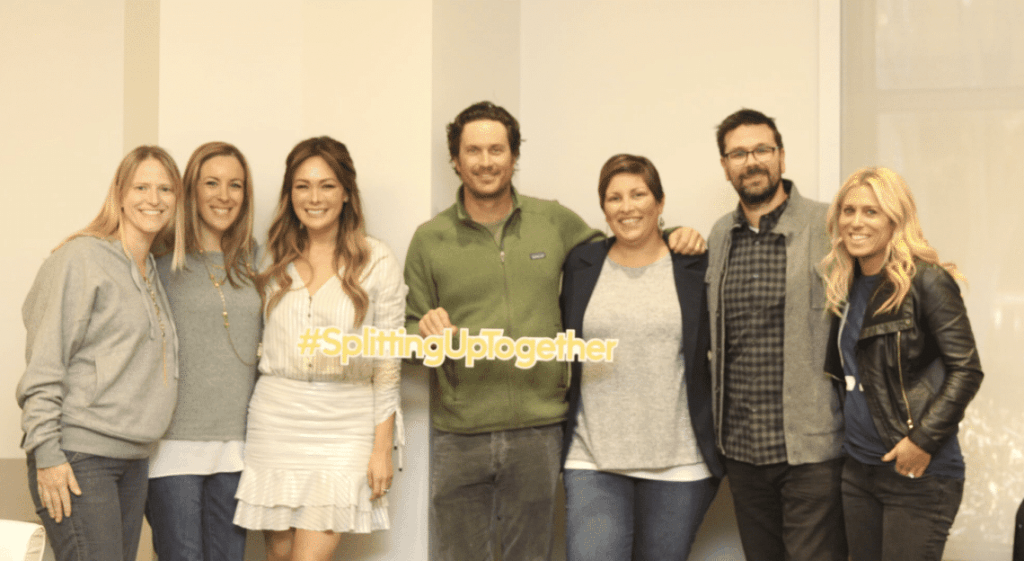 Splitting Up Together Cast OLIVER HUDSON (Martin),  LINDSAY PRICE (Camille), EMILY KAPNEK (Creator and Executive Producer), and DEAN HOLLAND ( Executive Producer).