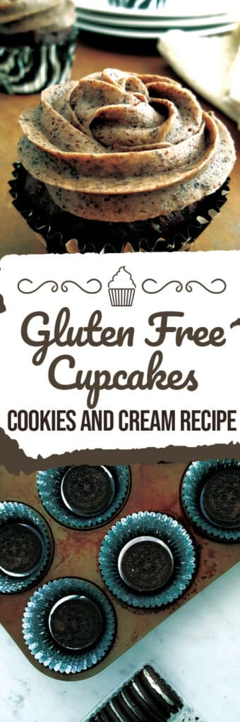 Cookies and Cream cupcakes that are gluten free