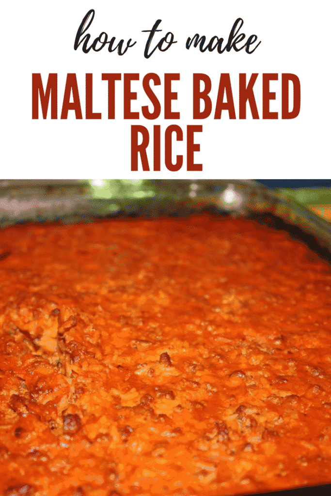 Maltese Food: Baked Rice Recipe