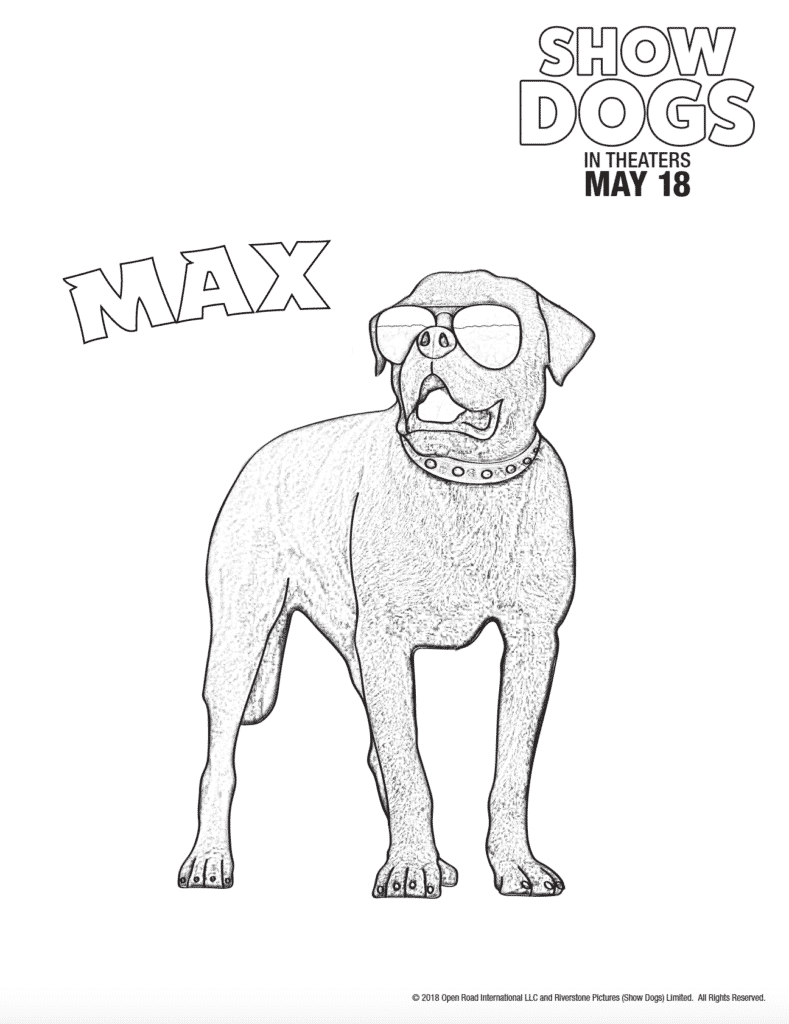 Dog Coloring Pages Show Dogs Movie