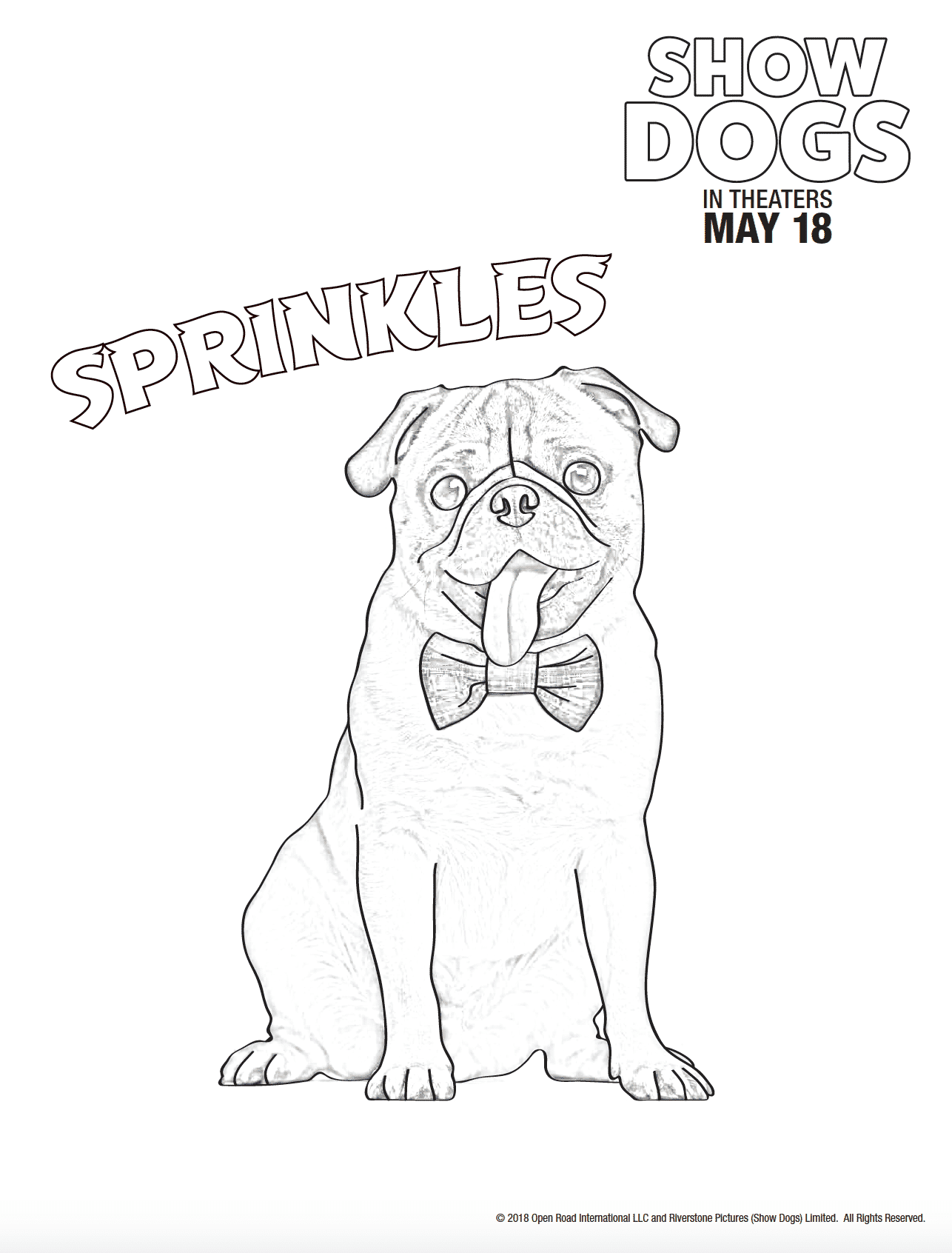 Show Dogs Movie: Free Coloring Sheets #ShowDogsMovie - Lady and the Blog