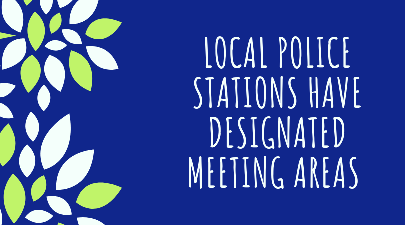 police station meet up places