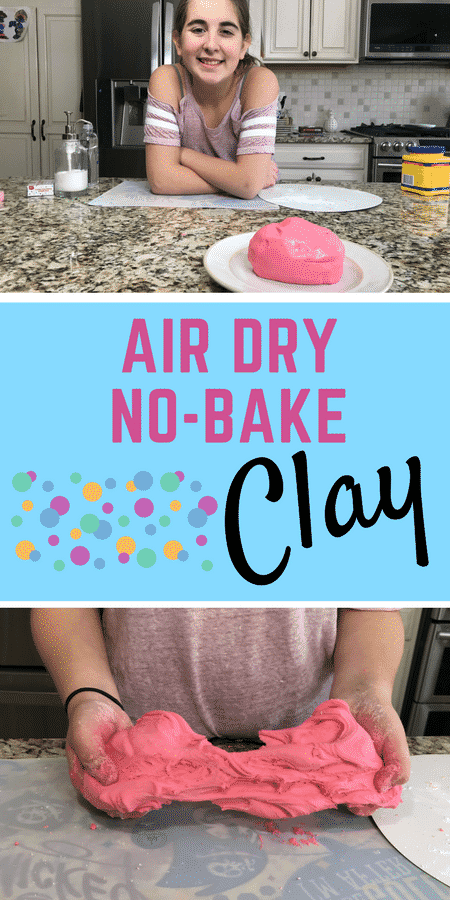 Homemade Clay -  How To Make Air Dry No-Bake Clay