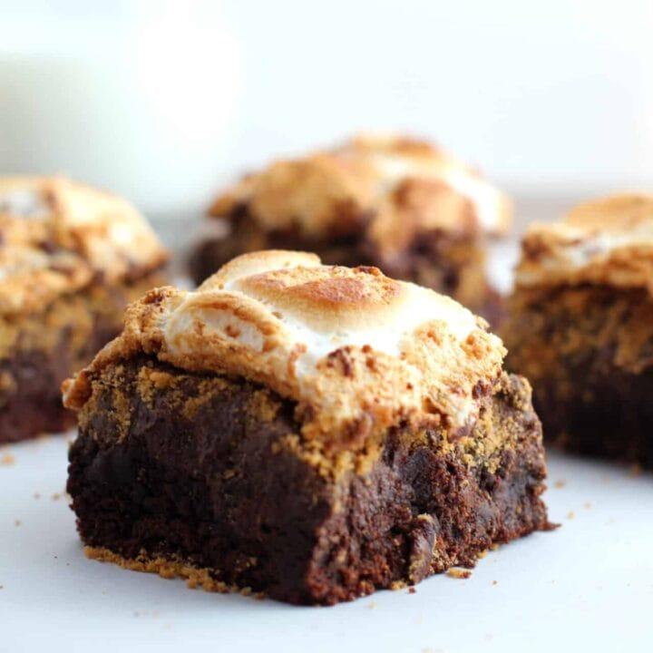 Gluten Free S'more Brownie Bars Recipe