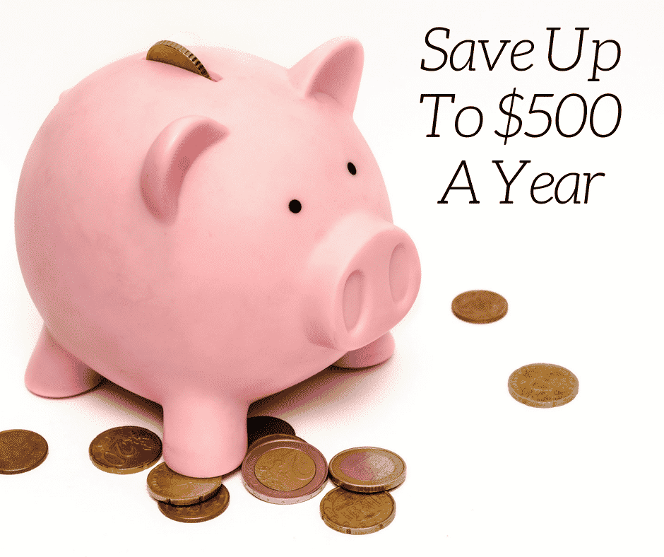 Save up to $500 a year
