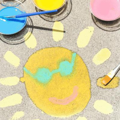 How To Make DIY Sidewalk Chalk Paint
