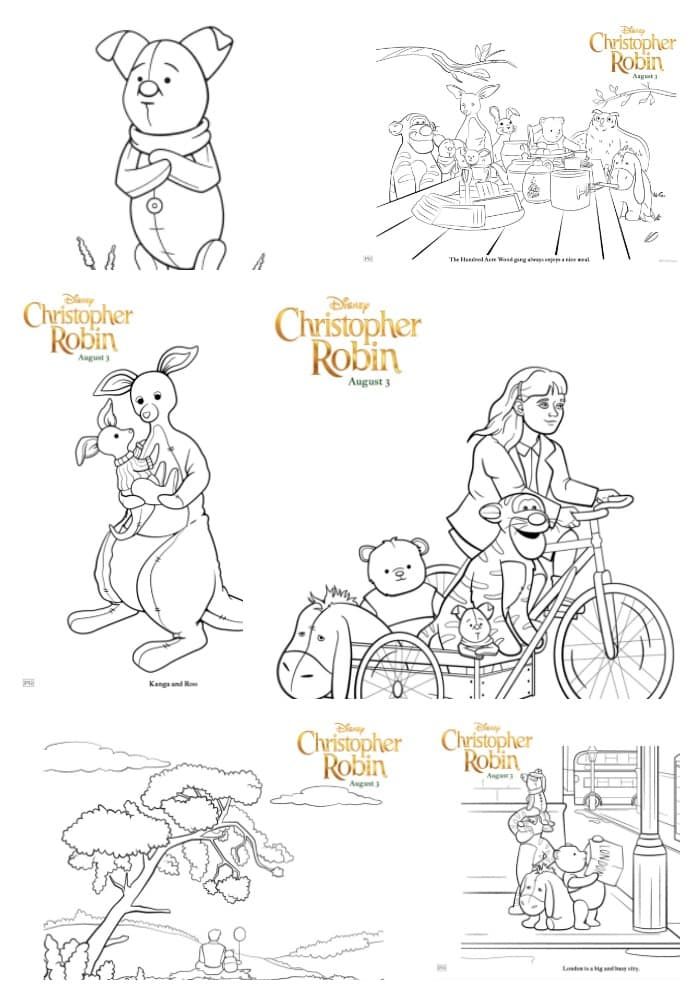 Free Downloads: Christopher Robin Coloring Pages #ChristopherRobin
