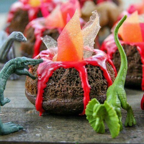 JURASSIC WORLD Mini Volcano Bundt Cakes Craft