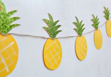 How To Make a Pineapple Garland: Summer DIY Craft