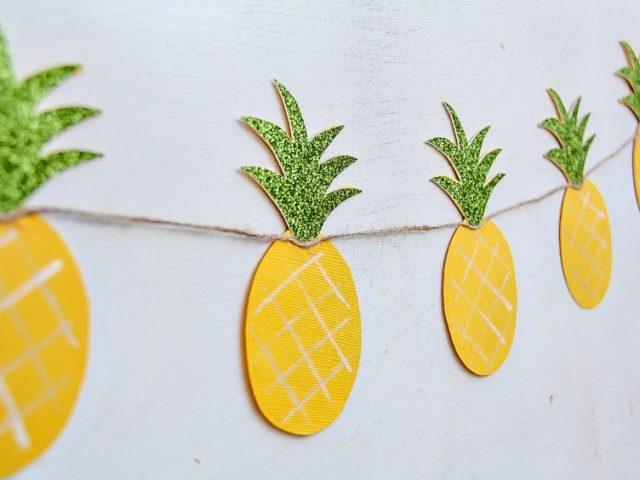 How To Make a Pineapple Garland: Summer DIY Craft