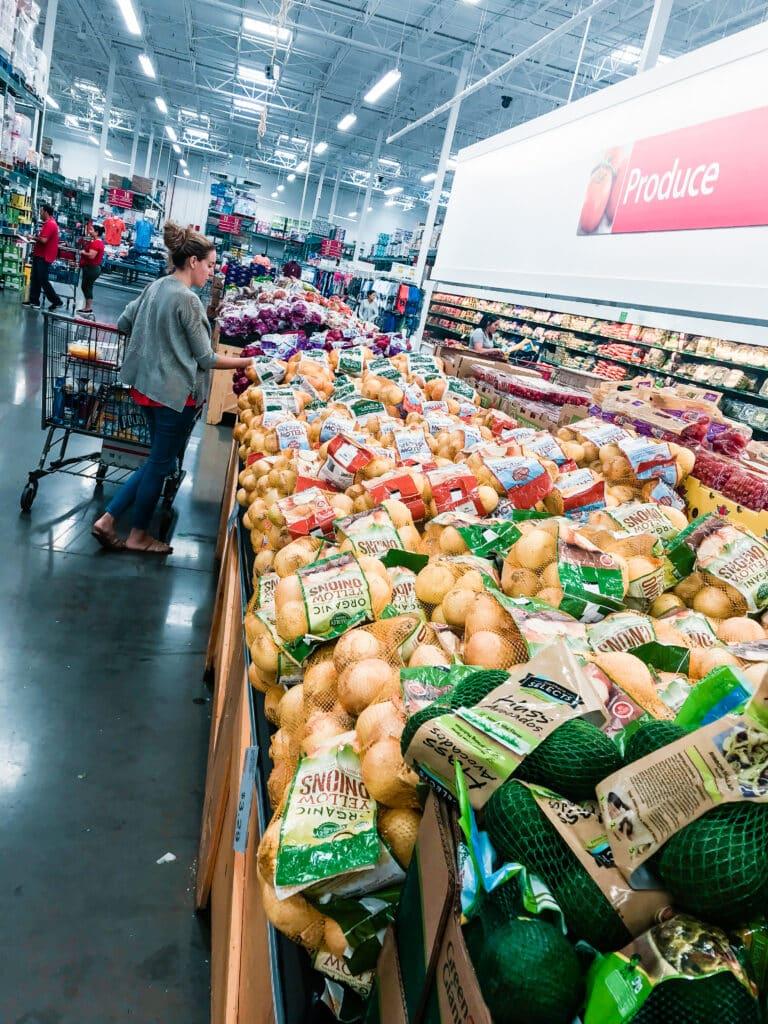 organic produce aisle inside BJ's Wholesale