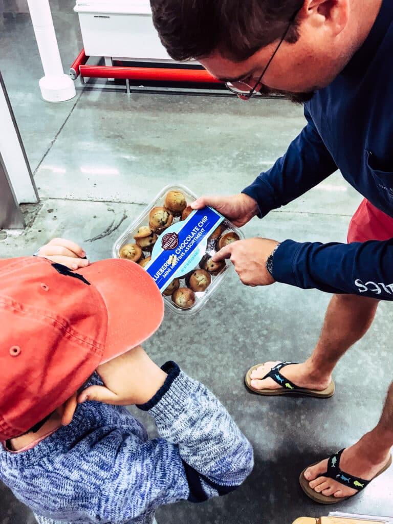 family shopping inside BJ's Wholesale Warehouse