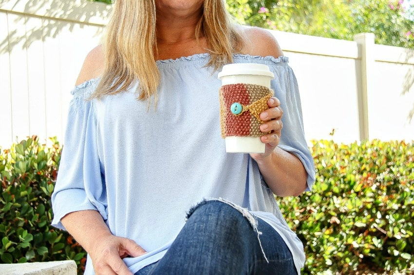 Fall Knit Cozy Coffee Cup