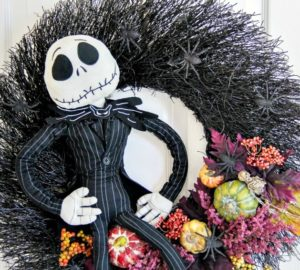 DIY Jack Skellington Halloween Wreath: Spooky Arts And Crafts Project For Halloween