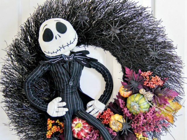 DIY Jack Skellington Halloween Wreath: Spooky Arts And Crafts Project For Halloween