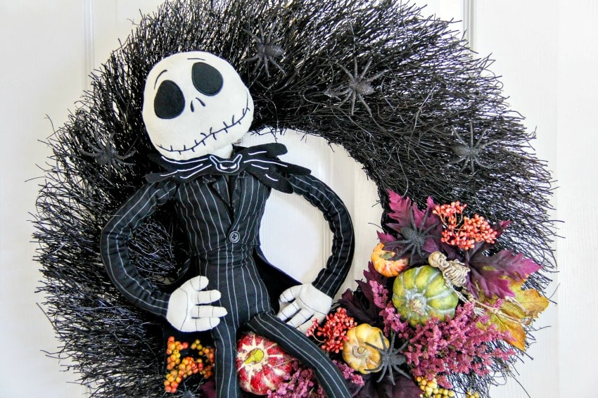 DIY Jack Skellington Halloween Wreath