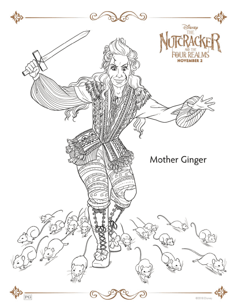 The nutcracker and the four realms free coloring pages for The nutcracker coloring pages