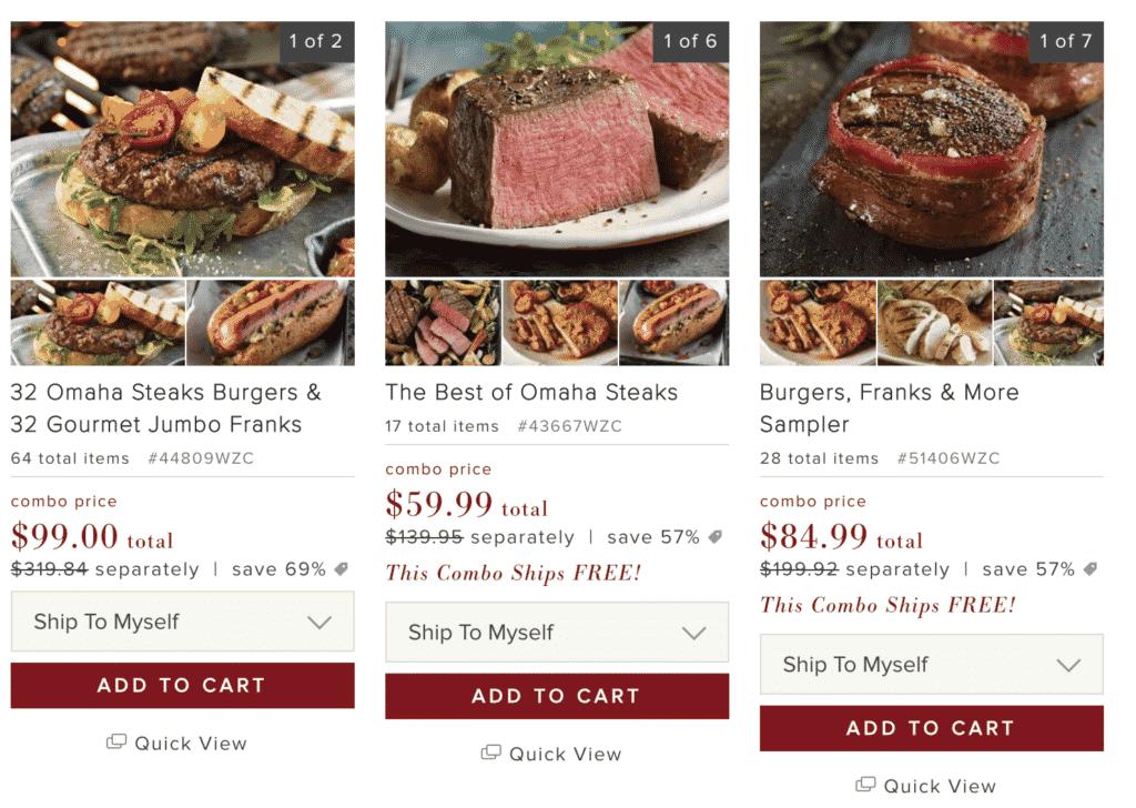 Omaga Steaks - Best Of Meals