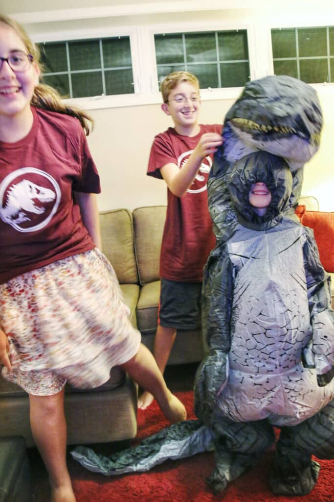 blow up dinosaur child halloween costume