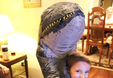 jurassic world blu ray dino costume