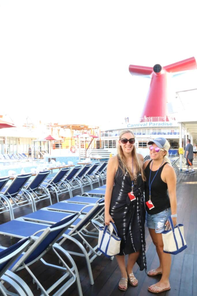 santo wrap carnival cruise permission to hustle retreat