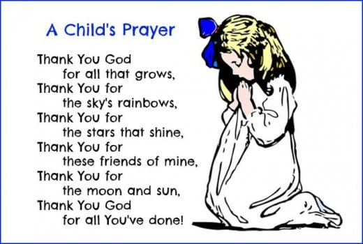 A Child's Prayer for Thanksgiving