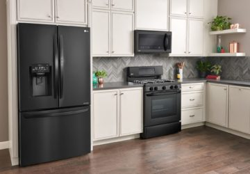 LG Matte Black Kitchen - The Sleek, Chic Kitchen Space You've Been Looking For