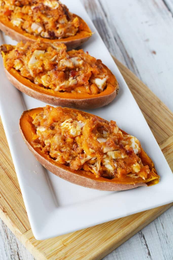 turkey stuffed sweet potato