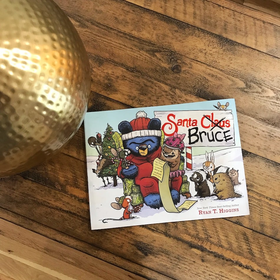 Santa Bruce Book on wooden table