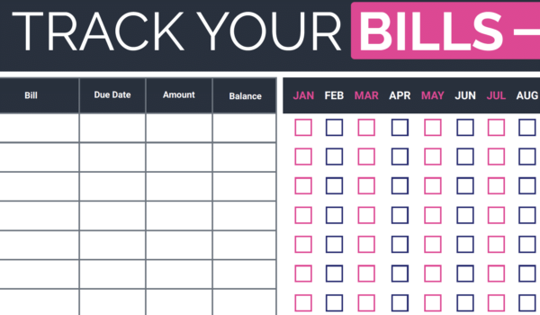 Free Bill Payment Tracker Printable - How To Organize Bills Every Month