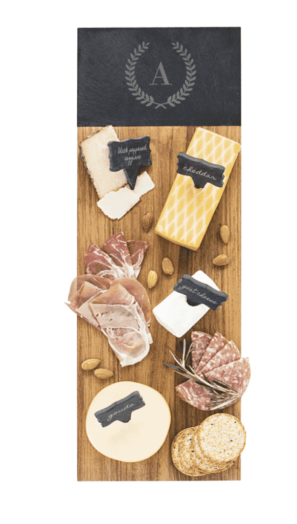 Monogram Acacia Wood Cheese Board CATHY'S CONCEPTS
