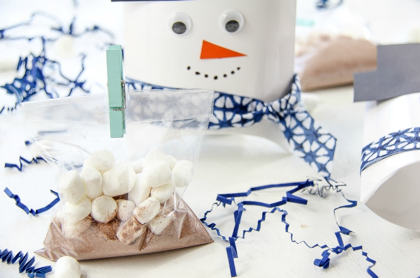 Easy Snowman Craft - Hot Chocolate Gift Set