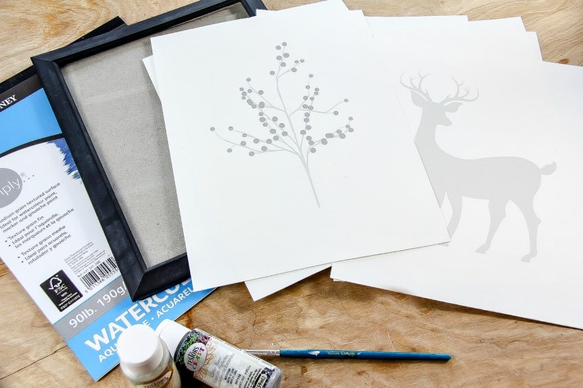 DIY Holiday Artwork For Your Home