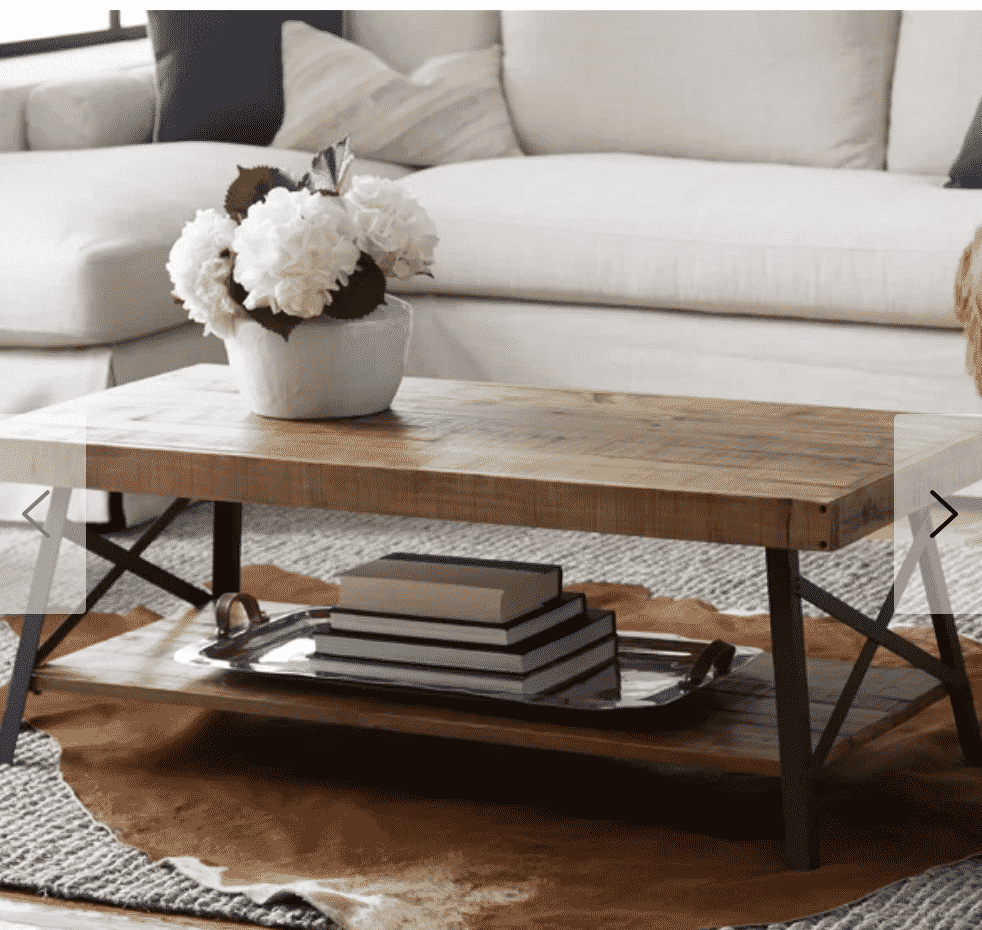 Laguna Coffee Table White Couch