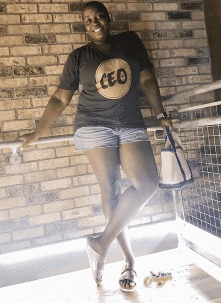 women wearing CEO t shirt