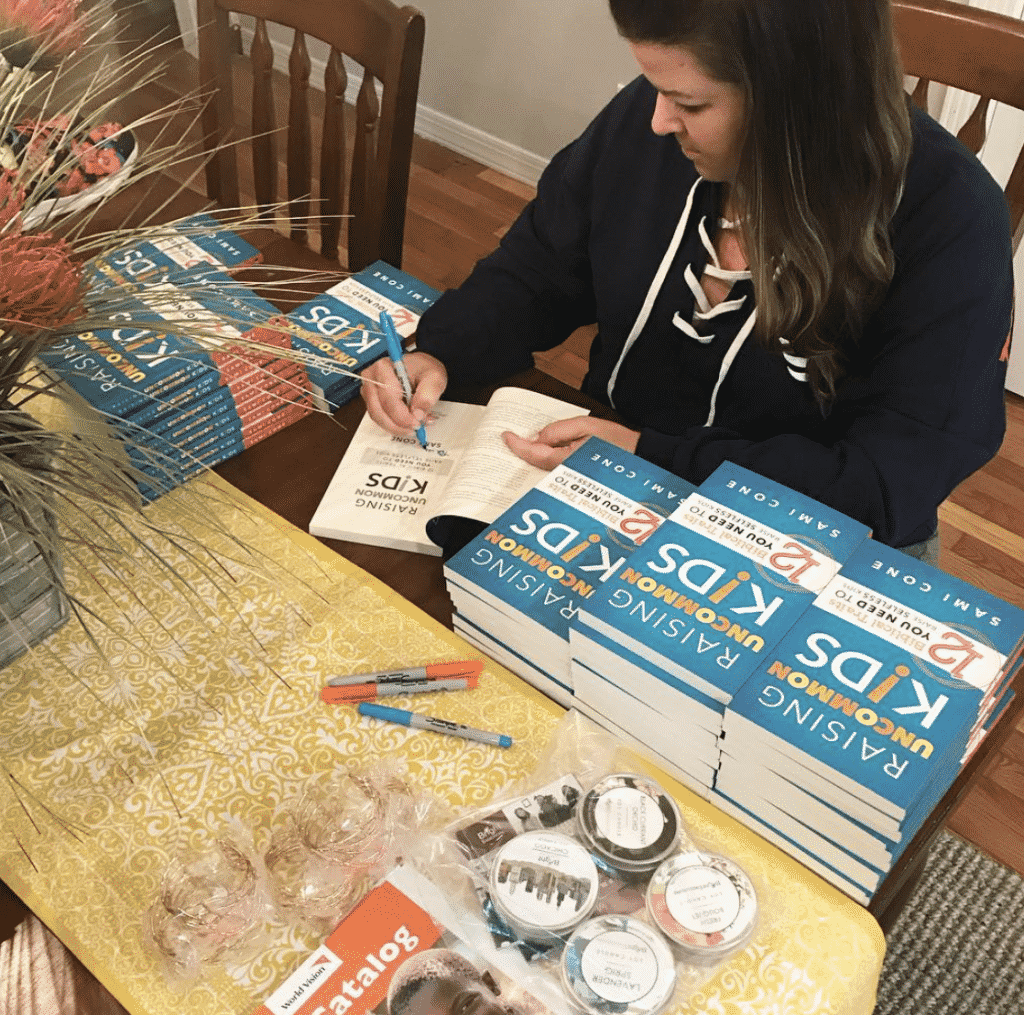 Sami Cone - Raising Uncommon Kids book signing