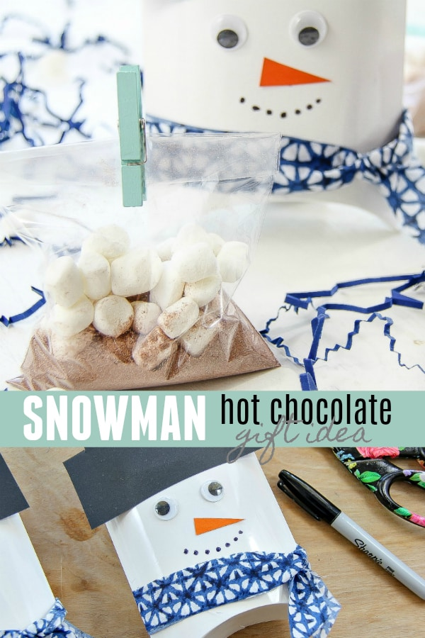 Easy Snowman Craft - Hot Chocolate Gift Idea