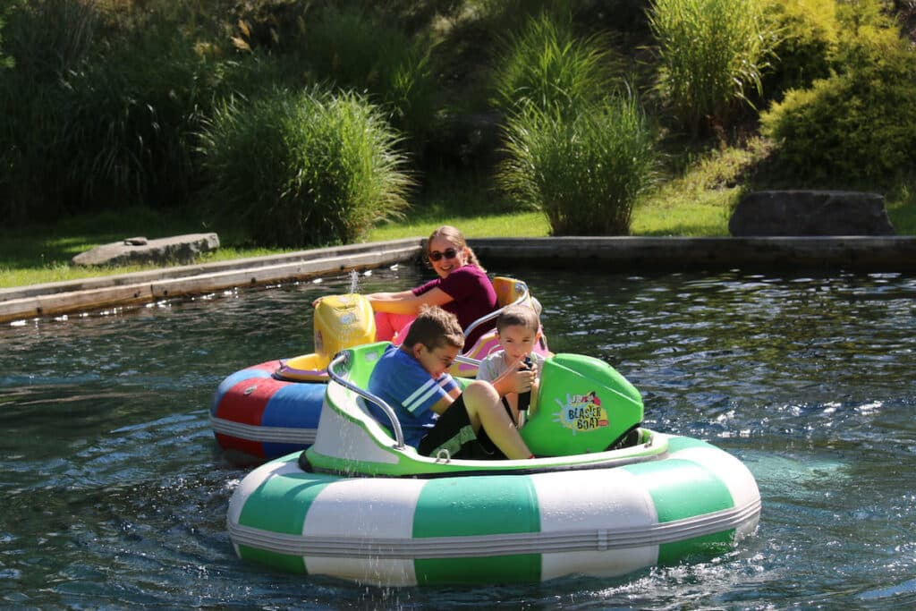 Woodloch Pines water squirting ride